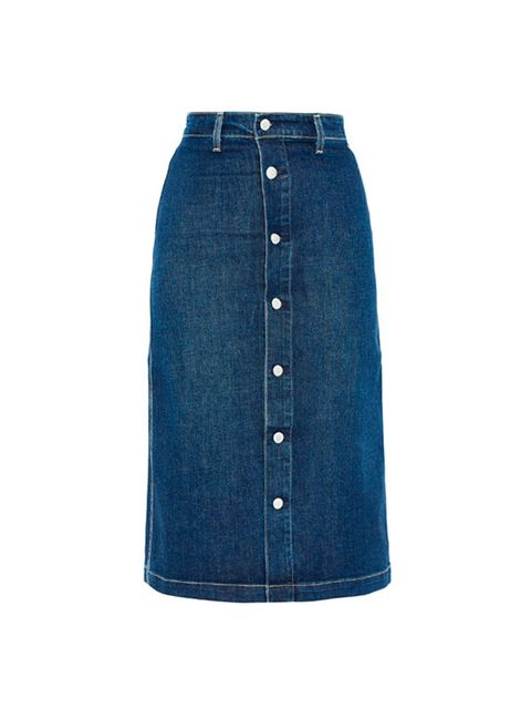 "<p>Alexa Chung for AG Jeans Skirt, £250 at <a href=""http://www.liberty.co.uk/fcp/product/Liberty//Navy-Button-Down-Denim-Midi-Skirt/126138"" target=""_blank"">liberty.co.uk </a></p>"
