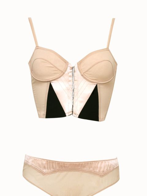 <p>Corset bra, £66, and knickers, £27, by Clare Tough at Apartment C (0207 935 1854)</p>