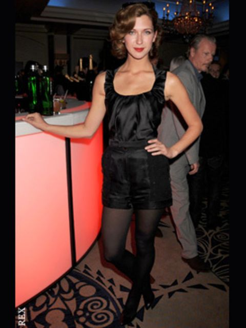 <p>Margot Stiley in a so this season playsuit at the premiere after party</p>