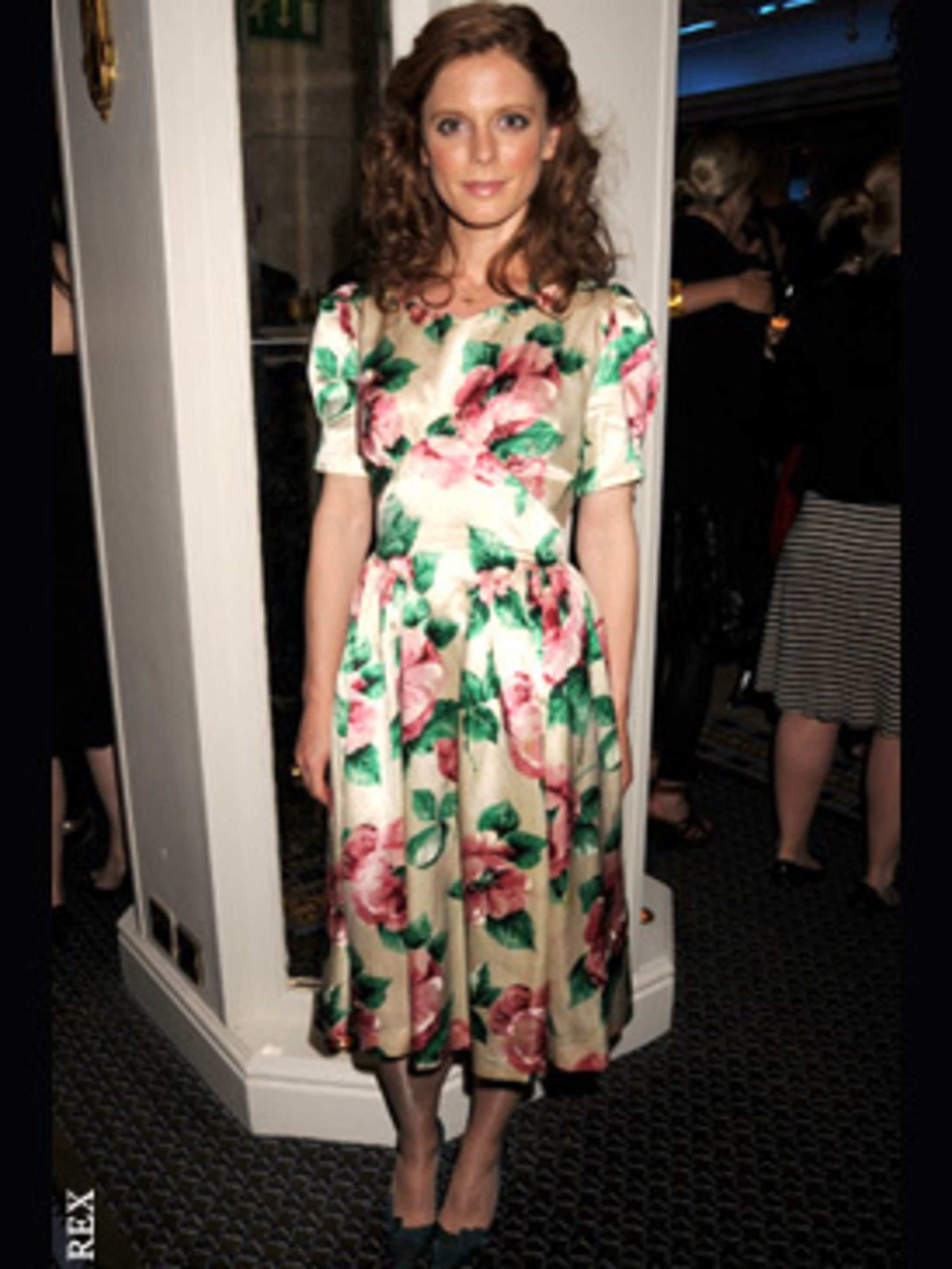 <p>Emilia Fox channels the film's 1940's fashion.</p>