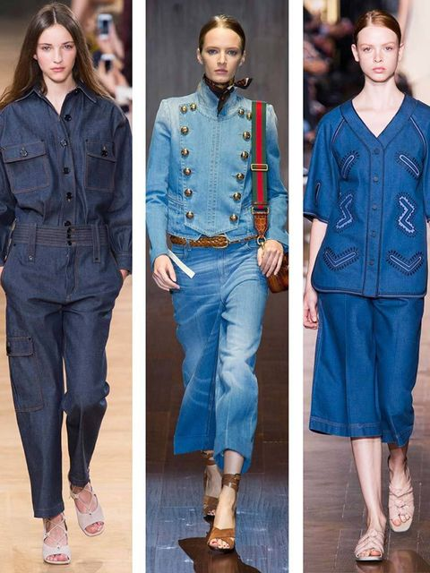 "<p><strong>Look out for:</strong> <br /> Unexpected denim incarnations from motorcycle jackets, anoraks and formal coats that can even be worn to summer soirees. It's dressy-casual made easy.</p>  <p><strong>Seen at: </strong><br /> <a href=""http://www.el"