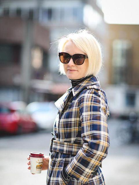 <p>Lorraine Candy, Editor-in-Chief</p>  <p>Miu Miu coat, Guestz polo neck top, Nicholas Kirkwood shoes, Stella McCartney sunglasses</p>