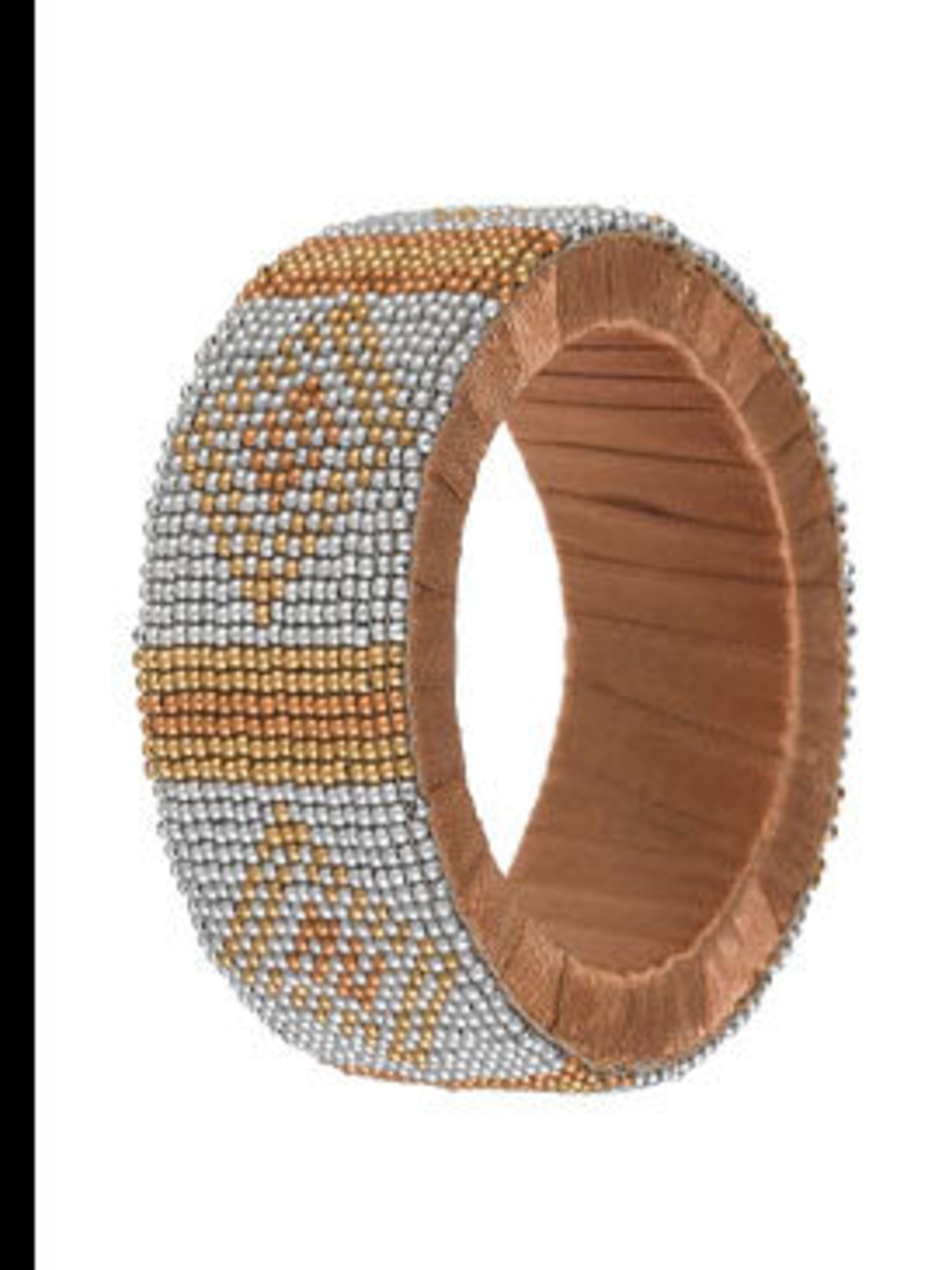"<p>Bangle, £12 by <a href=""http://www.marksandspencer.com/gp/node/n/42966030/276-7919945-1741309?intid=gnav_hp_img"">Marks and Spencer</a></p>"