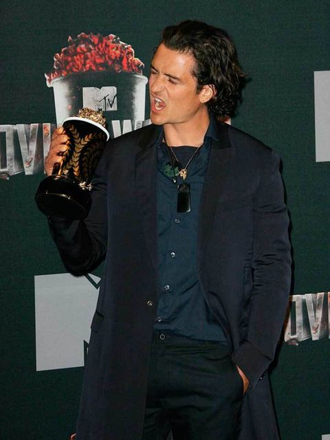 A bit too much love for his award we think...