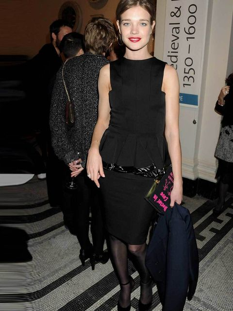 "<p><a href=""http://www.elleuk.com/star-style/celebrity-style-files/natalia-vodianova"">Natalia Vodianova</a> wearing a black pelum cocktail dress at the V&amp&#x3B;A's Design Fund Gala, March 2012</p>"