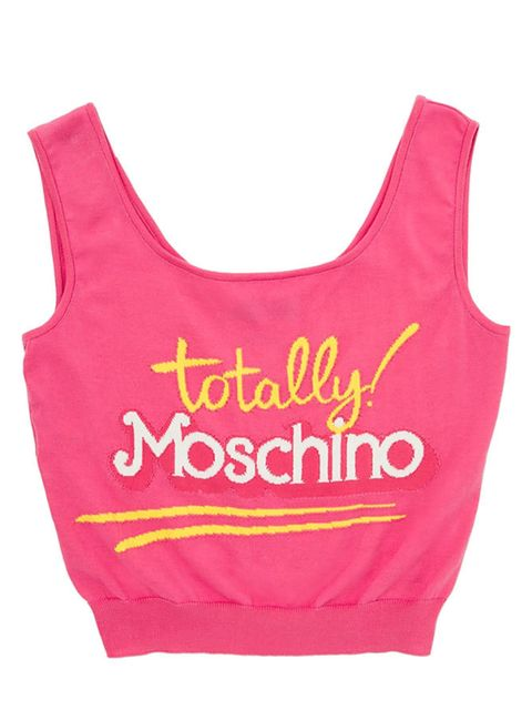 """<p>Tank Top Moschino £185, <a href=""""http://www.stylebop.com/gb/product_details.php?id=586615"""">Style Bop</a></p>"""