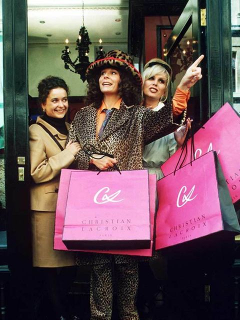 "<p>Eddy, Patsy and Saf make a trip to the <a href=""http://www.elleuk.com/content/search?SearchText=christian+lacroix&amp&#x3B;SearchButton=Search"">Christian Lacroix</a> store.</p>"