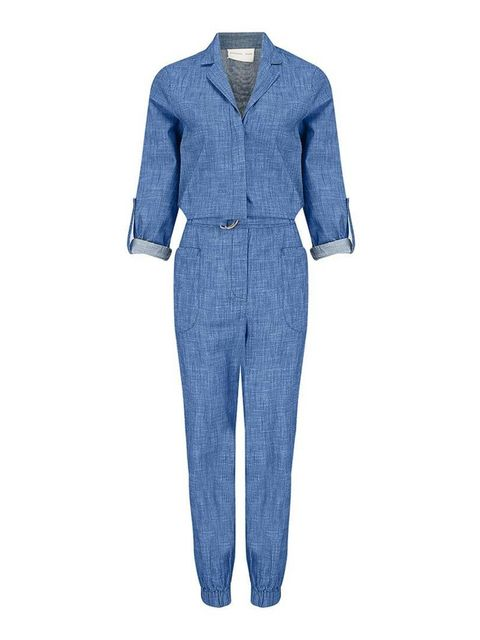 "<p>The jumpsuit is fast becoming a wardrobe staple, and this one ticks the denim box, too.</p>  <p><a href=""http://www.atterleyroad.com/chambray-jumpsuit-1.html"" target=""_blank"">Atterley Road</a> jumpsuit, £75</p>"