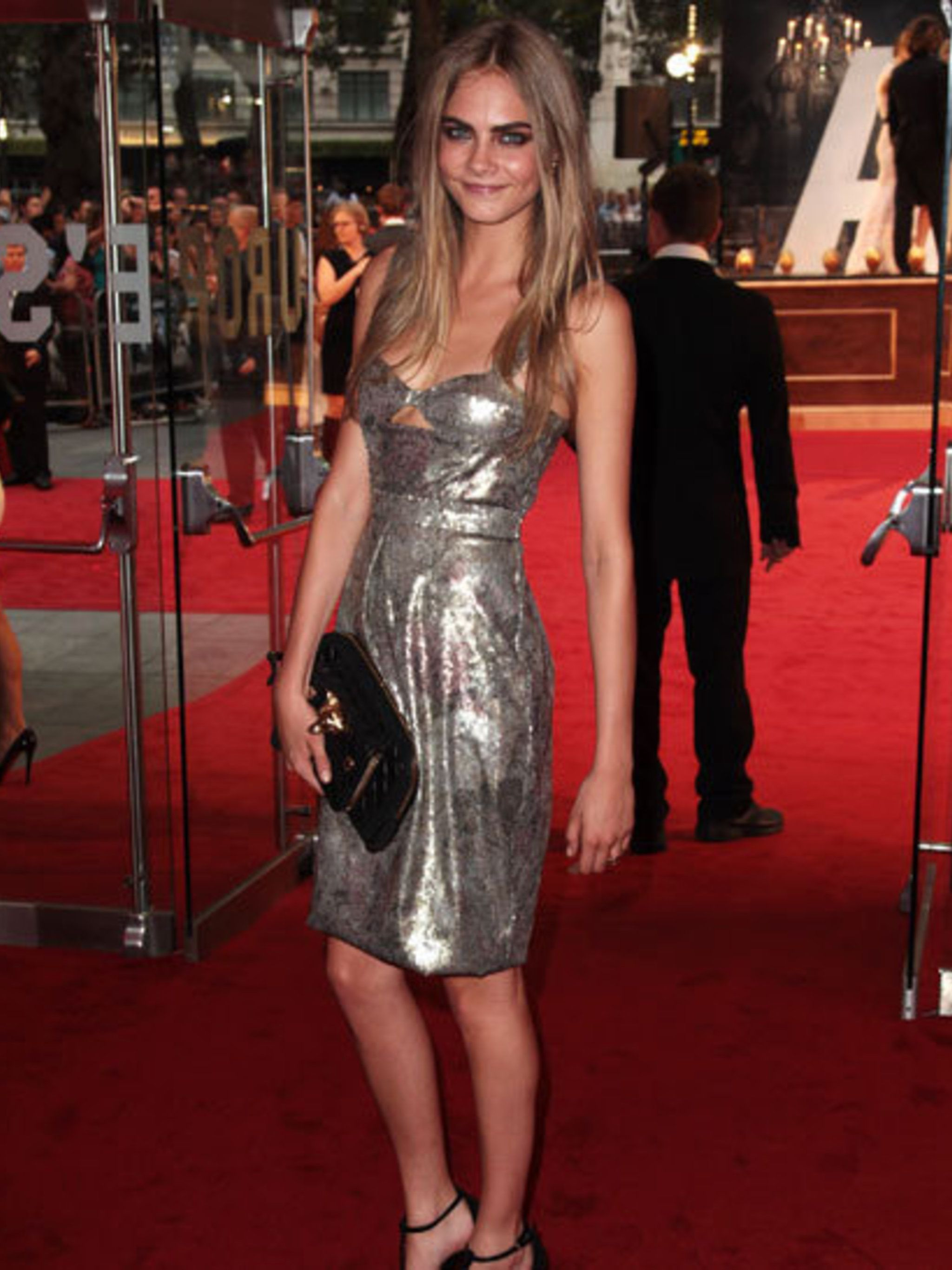 <p>Cara Delevigne attends the World Premiere of Anna Karenina in London Leicester Square wearing Burberry.</p>