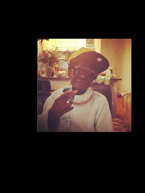 <p>'Missing you today especially #grangranDolly my guardian angel'</p>