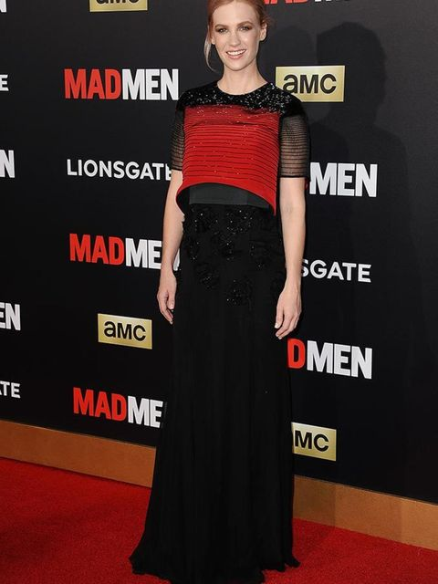 January Jones at the Mad Men Black and Red Ball