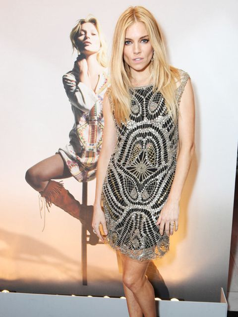 <p>Sienna Miller at the Kate Moss for Topshop launch private dinner at The Connaught Hotel. </p>