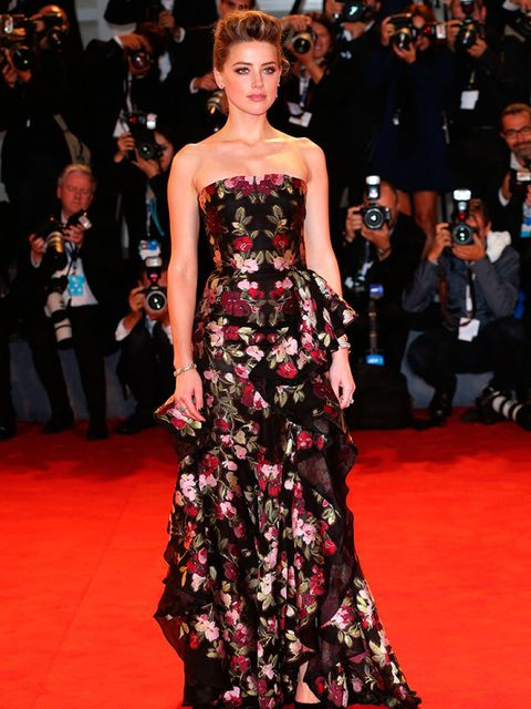 <p>Amber Heard attends the 'Danish Girl' premiere at the 72nd Venice Film Festival, September 2015.</p>