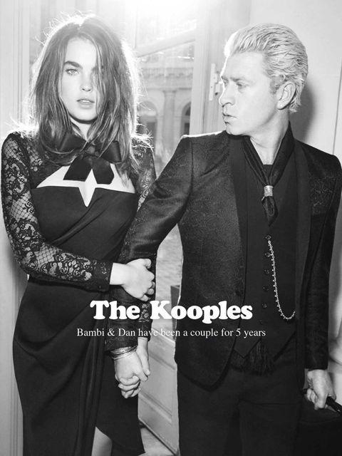 <p>Bambi Northwood-Blyth and Dan Single for The Kooples, a/w 2013</p>