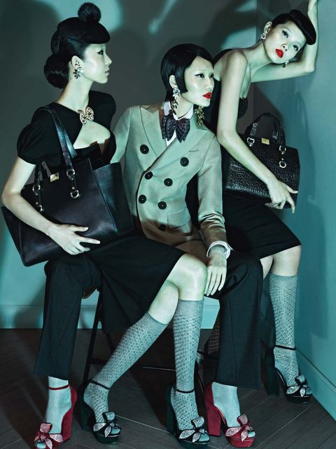 <p>DSquared2's autumn/winter 2013 campaign, Les Dames Masculines</p>
