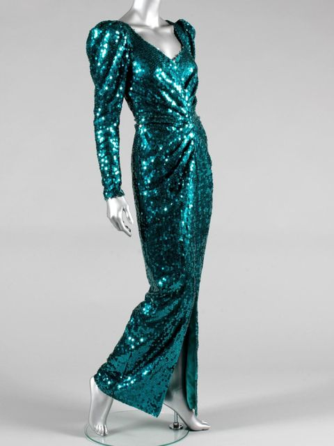 <p>Catherine Walker sequined evening gown worn by Princess Diana</p>