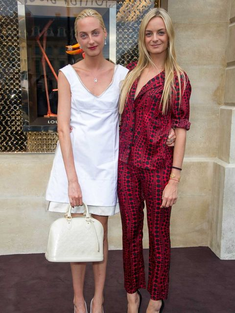 <p>Claire & Virginie Courtin-Clarins at the Louis Vuitton boutique</p>