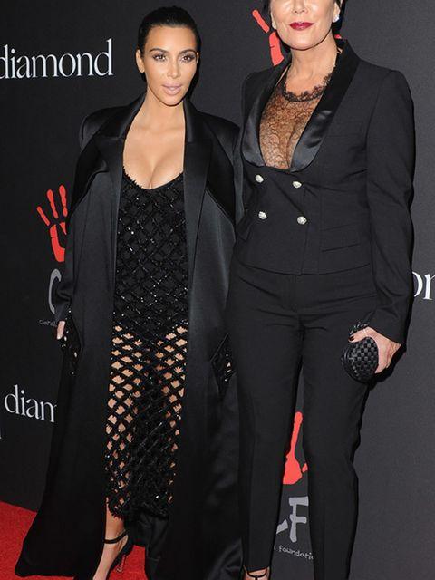 <p>Kim Kardashian and Kris Jenner at The First Annual Diamond Ball, December 2014.</p>