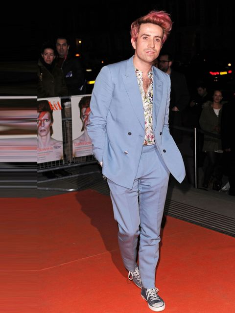 "<p>Looking like a proper sweetie after dying his hair for <a href=""http://www.elleuk.com/style/occasions/elle-goes-to-chanel-in-a-onesie"">Comic Relief</a>.</p>"