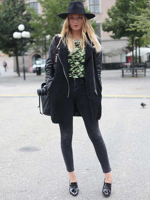 <p>Ingrid, Blogger. A Bathing Ape t-shirt, Cheap Monday jeans, Zara shoes, vintage hat.</p>
