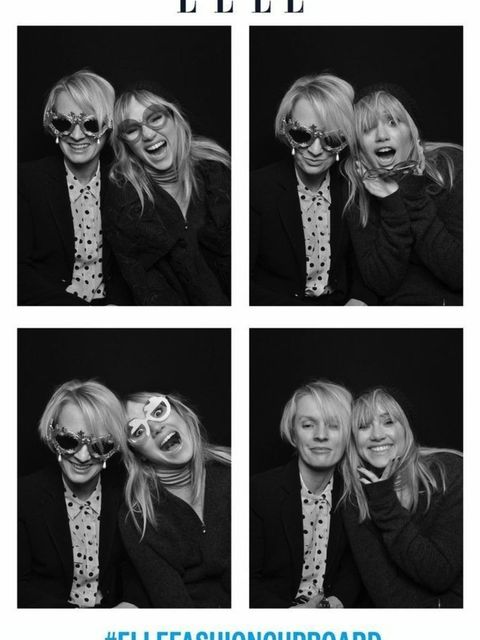 <p>Suki Waterhouse and Lorraine Candy in the ELLE photobooth</p>