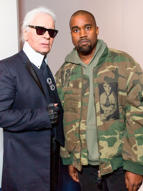 <p>Kayne West and Karl Lagerfeld.</p>  <p>Kayne continues to build his fashion kingdom by bonding with the Kaiser. We'll know this is a forever friendship when Kim starts wearing 100% Chanel.</p>
