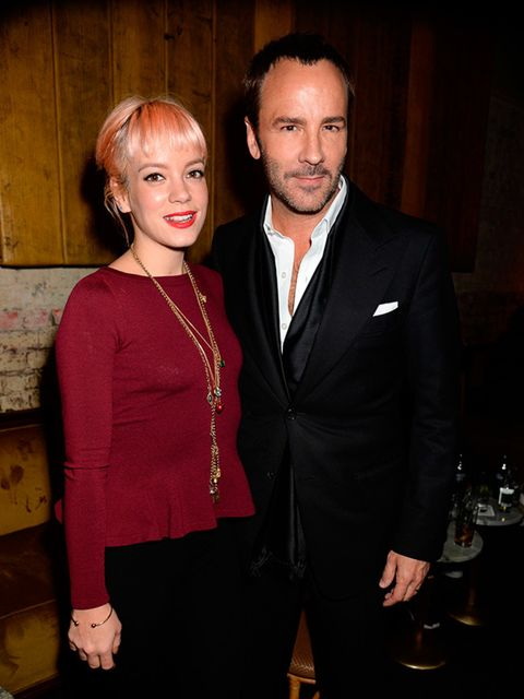 Tom Ford and Lily Allen attend the launch of Tom Ford's fragrance party during London Collections:Men, January 2015.