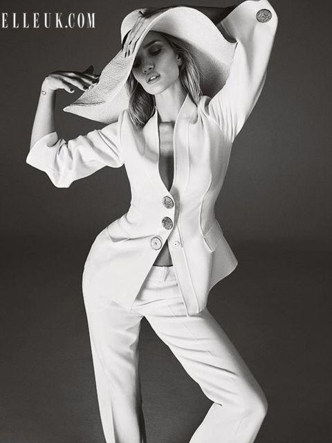 Rosie Huntington-Whiteley models the new season for the February 2015 issue of ELLE.