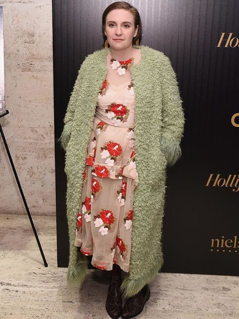 Lena Dunham attends the Hollywood Reporter's 2016 35 Most Powerful People in Media at Four Seasons Restaurant in New York, April 2016.