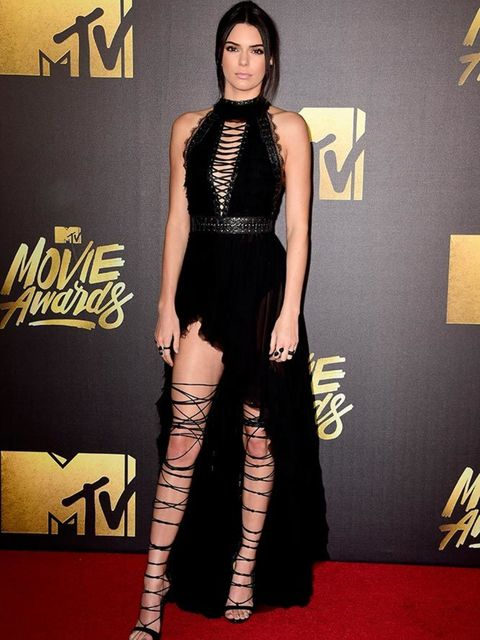 <p>Kendall Jenner wears DSquared2 to the MTV Movie Awards in California, April 2016.</p>