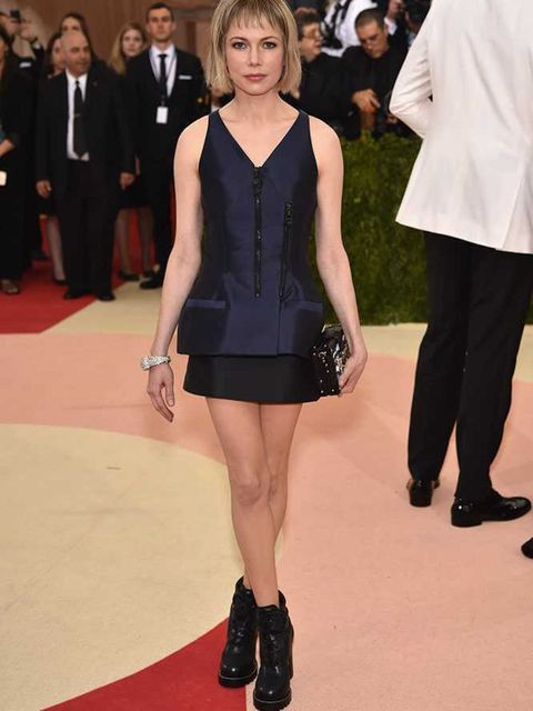 <p>Michelle Williams in Louis Vuitton at the Met Gala in New York, May 2016.</p>