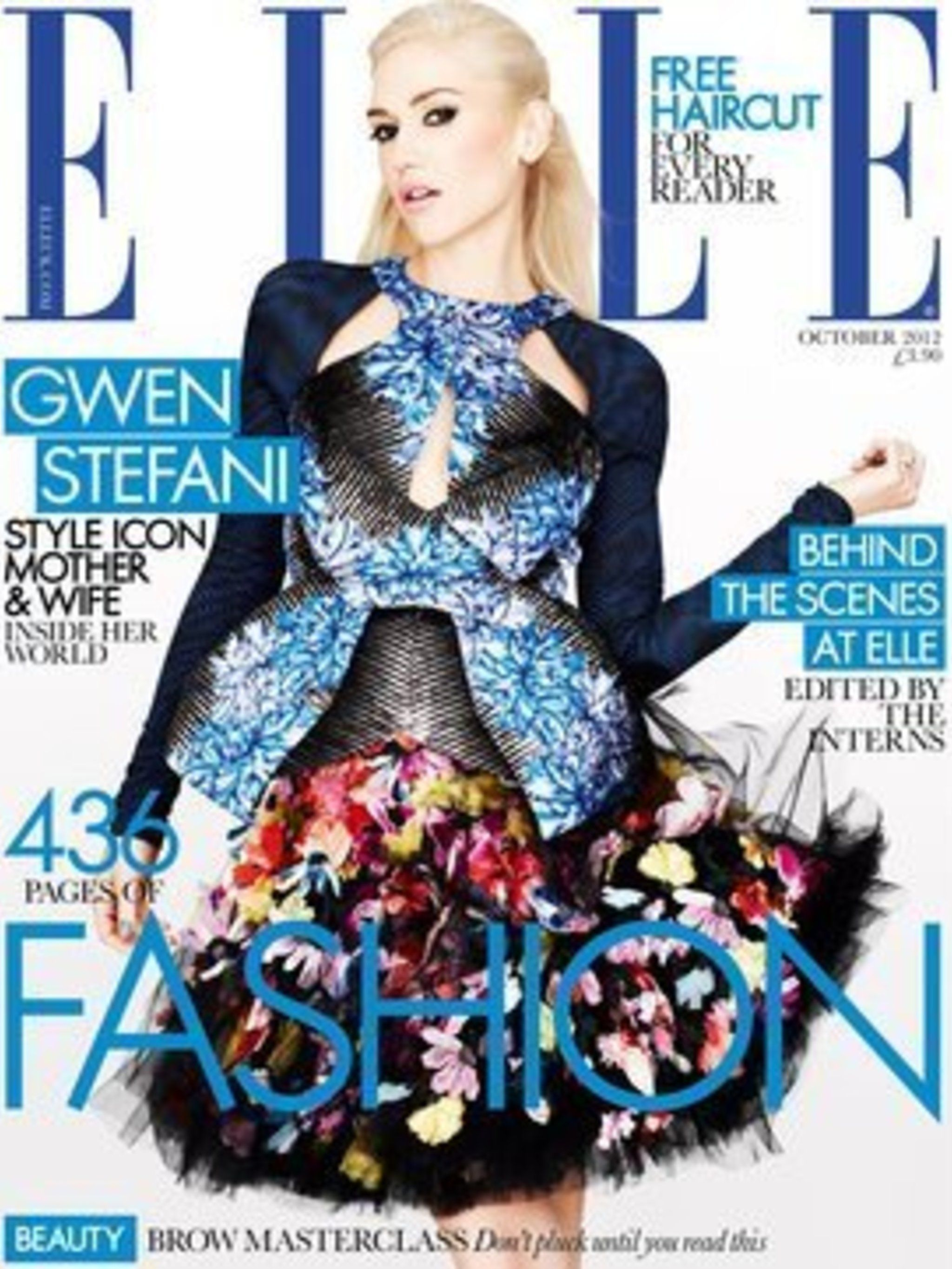 <p>ELLE's inaugural Edited By The Interns issue, October 2012</p>