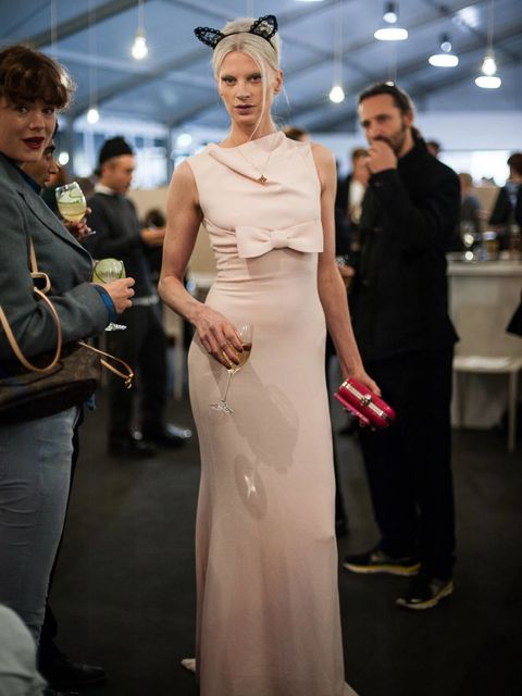 <p>Kristen McMenamy at the COS party at Frieze Art Fair 2012</p>