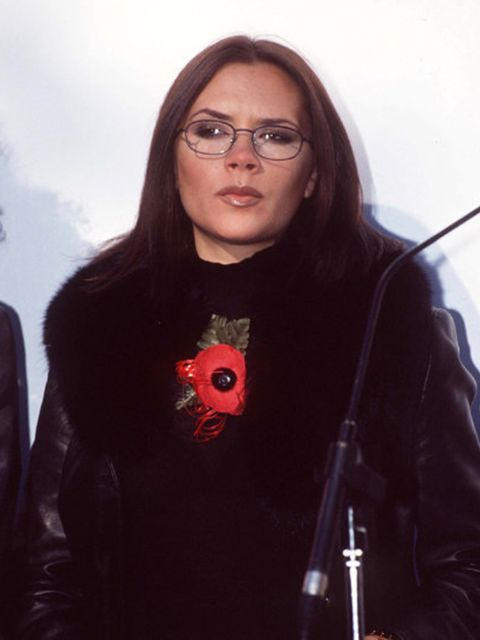 <p>Victoria Beckham was last photographed wearing glasses in 1997</p>