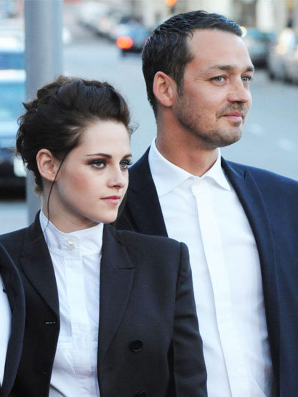 <p>Kristen Stewart and Rupert Sanders at a SWATH screening in Los Angeles</p>