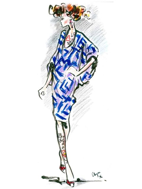 <p>A Vivienne Westwood Red Label A/W '12 look illustrated by Clym Evernden</p>