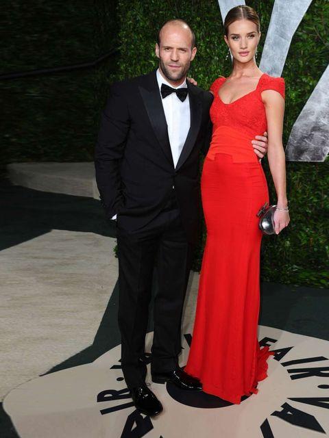 "<p>Jason Statham & <a href=""http://www.elleuk.com/star-style/celebrity-style-files/rosie-huntington-whiteley"">Rosie Huntington-Whiteley</a> (wearing an <a href=""http://www.elleuk.com/catwalk/designer-a-z/antonio-berardi/autumn-winter-2012"">Antonio Ber"