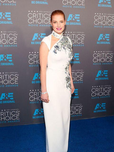 <p>Jessica Chastain in Antonio Berardi at the Critics' Choice Awards 2015.</p>