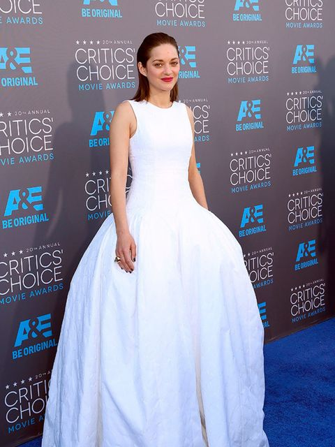 <p>Marion Cotillard in Dior Haute Couture at the Critics' Choice Awards 2015.</p>