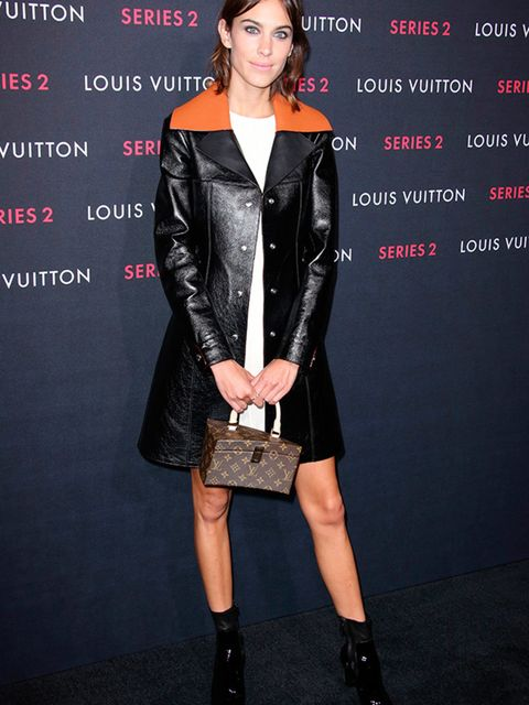 <p>Alexa Chung at the Louis Vuitton Series 2 Exhibition in Los Angeles, February 2015.</p>