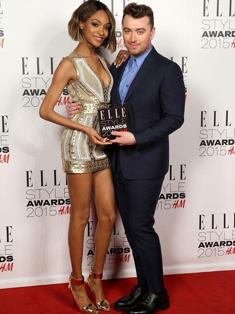 "<p><a href=""http://www.elleuk.com/tags/jourdan-dunn"">Jourdan Dunn</a> presents the award for the Musician of The Year to <a href=""http://www.elleuk.com/tags/sam-smith"">Sam Smith</a> at the ELLE Style Awards 2015.</p>"
