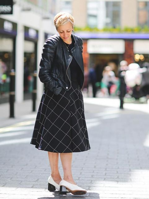 <p>Anne-Marie Curtis, Fashion Director</p>  <p>Carven jacket, Sunspel sweater, JW Anderson skirt, Celine shoes.</p>