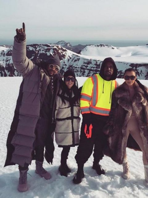 Kim Kardashian in Reykjavik...'On top of a glacier!'