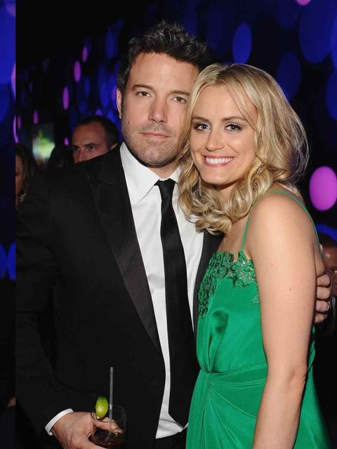 <p>Ben Affleck and Taylor Schilling at the Golden Globes after-party, 2014.</p>