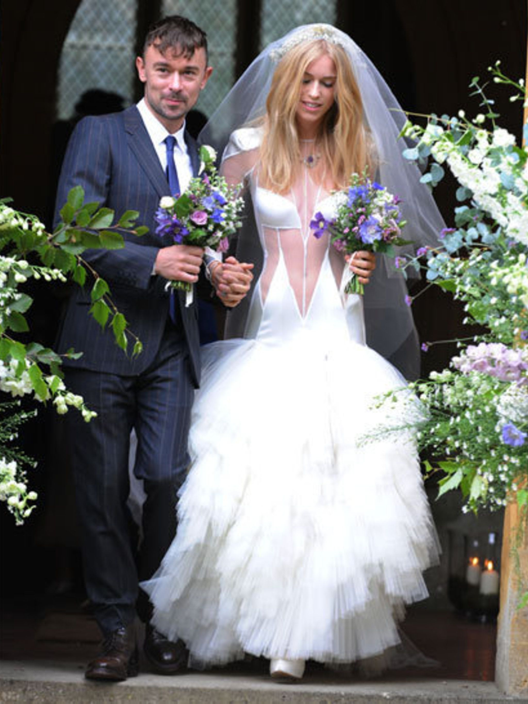 <p>The bride and groom - Mary Charteris and Robbie Furze</p>