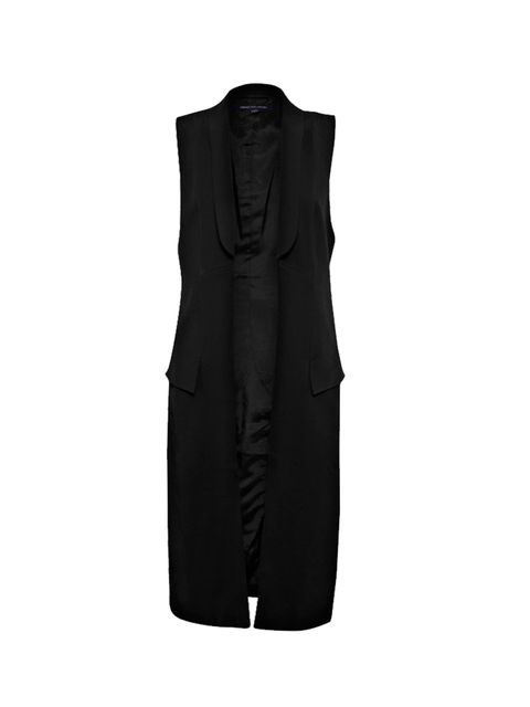 "<p><a href=""http://www.frenchconnection.com/product/Woman+New+In/70DAC/Deco+Dream+Sleeveless+Coat.htm"" target=""_blank"">French Connection</a> black sleeveless coat, £150</p>"