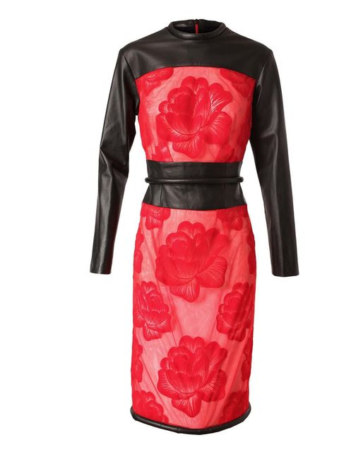 "<p>Christopher Kane Leather and Mesh Floral dress £2.200 at <a href=""http://www.brownsfashion.com/Product/Women/Clothing/Dresses/Leather_and_Mesh_Floral_Dress/product.aspx?p=4483810&amp;cl=4&amp;pc=1949762"">Browns</a></p>"