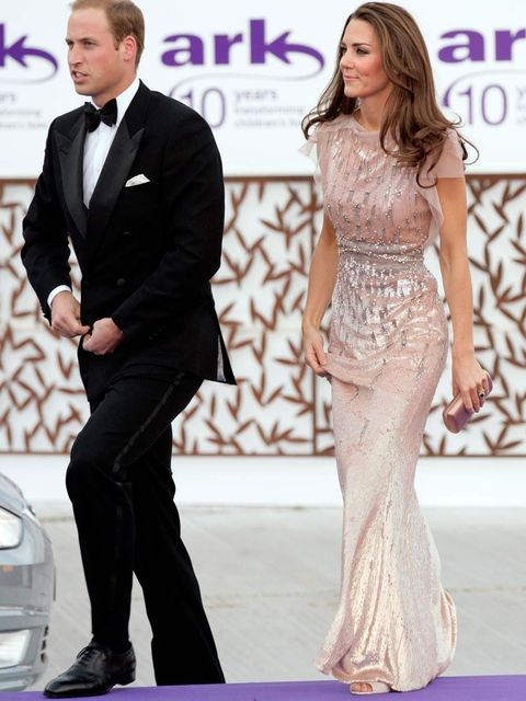 <p>The Duchess of Cambridge wore Jenny Packham to an event in June 2011.</p>