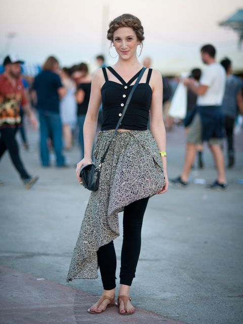 <p>Alexandra Dreisin. Topshop top and bag, BCBG skirt, Aldo shoes.</p><p>Photo by Stephanie Sian Smith</p>