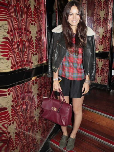 <p>ELLE LFW blogger Atlanta De Cadenet at the JW Anderson and Topshop party.</p>